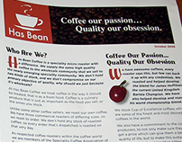 Has Bean Coffee - Packaging, Labels, Newsletter