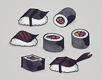 Calligraphy Sushi