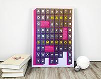 Cartaz tipográfico.