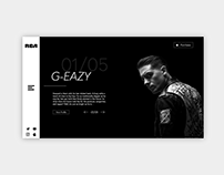 Website Design Concept - RCARecords