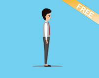 Businessman Cartoon Character (Free Vector)