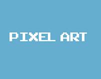 Pixel art of my friends