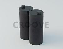 CROOVE. Retractable Notebook Speakers