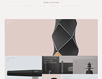 Bang & Olufsen Site Redesign →