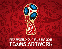 [Illustration] FIFA WC Russia 2018: TEAMS ARTWORK 2.0