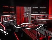 TV Set Design. Voice Russia 2012