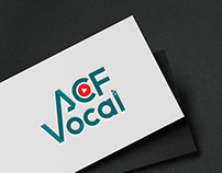 acf vocal logo design