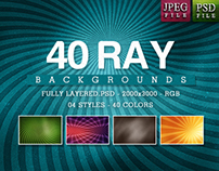 40 Ray Backgrounds - 04 Styles - $4