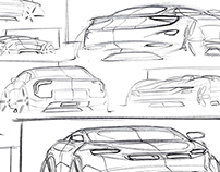 50 car sketch in a day