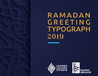Ramadan greeting Typography 2019
