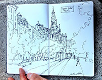 Sketches of the Houses of event Budapest 100 in 2016