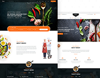 Brano - Restaurant Website Concept