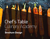 Chef's Table Culinary Academy | Brochure Design