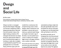 Design and Social Life
