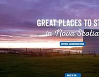 New homepage design for Nova Scotia Tourism