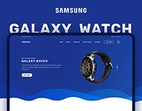 Samsung Galaxy Watch Website Demo