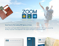 Zoom Travel Stationery and Brochure design