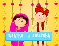 Nishtha+Saurabh Wedding Invite