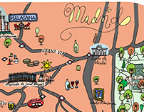 Paula - An illustrated Map of Madrid