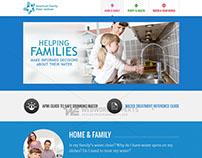 American Family Water Institute - Custom Web Design