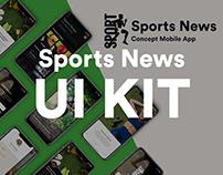 Sport News Concept Mobile App