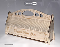 Elegant wine box horizontal