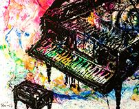 Piano · acrylic on canvas · 100 x 100cm