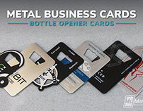 Bottle Openers: Brushed Stainless Steel and Black Metal