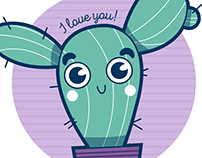 Hug me! I love you. Ilustración infantil