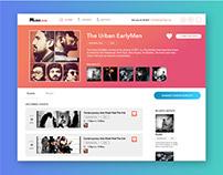 Musejam Music Website Design