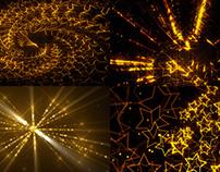 Golden Stars - VJ Loop Pack (4in1)