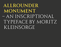 Allrounder Monument – an inscriptional typeface