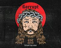 Korrupt Streetwear Jesus T-shirt