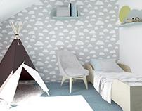 eclectic kids room / eklektyczny pokój dziecka