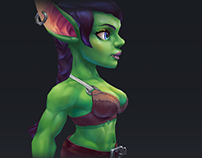 Hand painted texture low poly characters. Part 2.