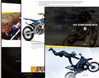 Landing Page for Motorbike Rider