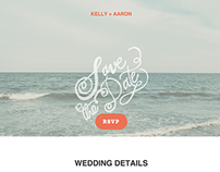 Aaron + Kelly wedding website