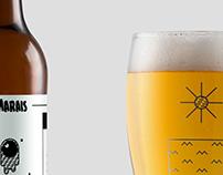Beer packaging: bière des Marais
