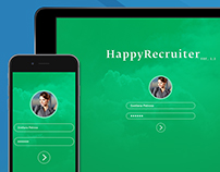 Concept of an application for HR and Recruiters (UI)