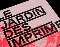 """Le jardin des imprimeurs"", editorial design"