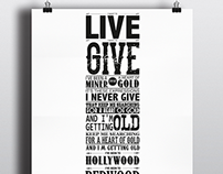 Typographic Music Poster