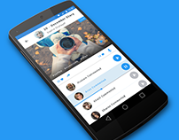 Phototalks - material design social app