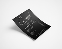 Mock Up: Price List & Business Card