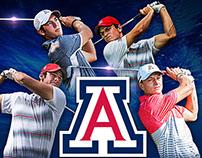 Arizona Wildcats Men's 2016 Golf Poster