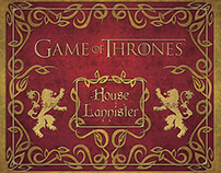 Game of Thrones Lannister Deluxe Stationery Set