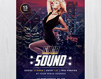 Club Sound - Free PSD Flyer Template