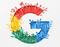 Paper Google Logo