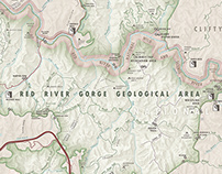 Rock Climbing Map: Red River Gorge