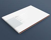 A4 Horizontal Book Mockup Thin Spine