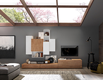 Solid Wood TV WALL